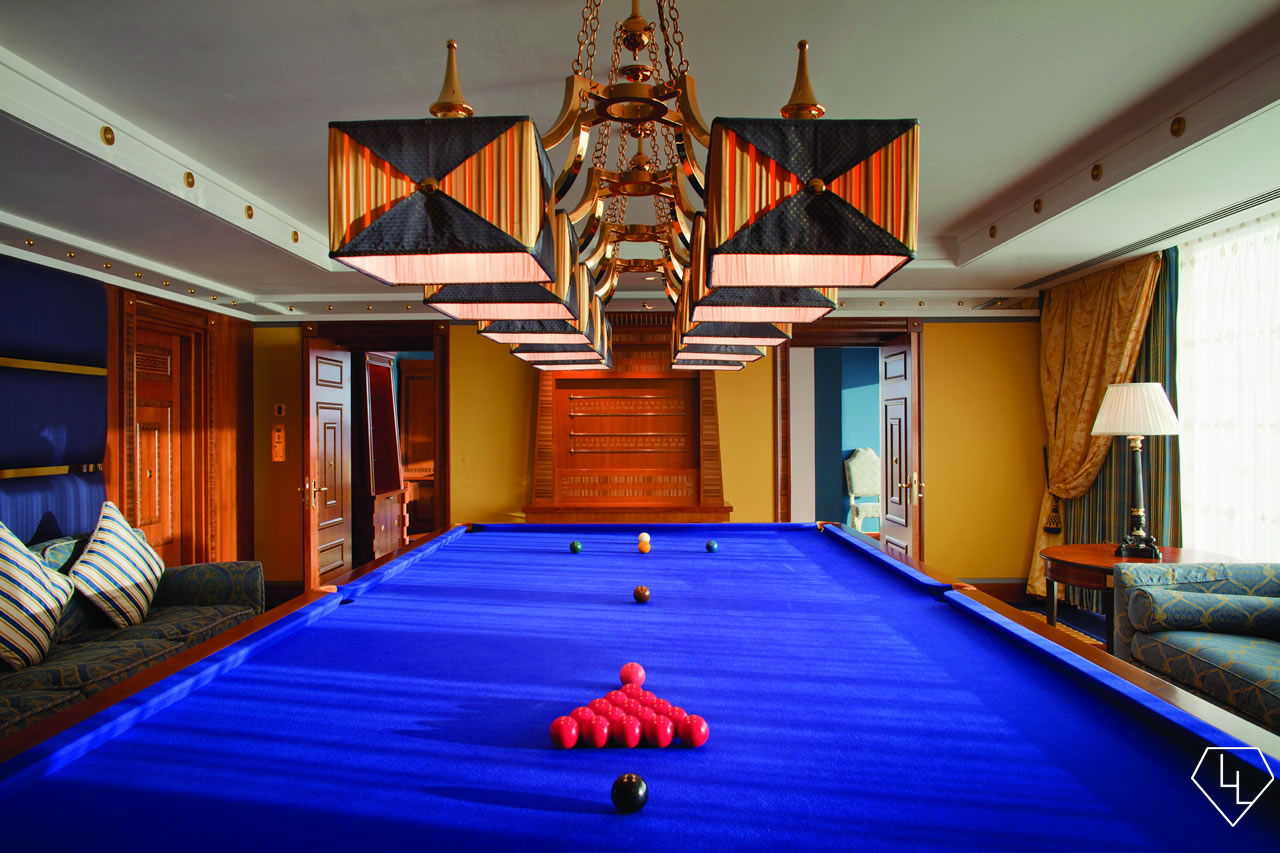 Burj Al Arab - Club Suite full size snooker table
