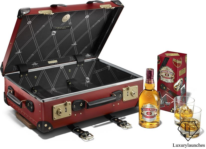 Chivas Made for Gentlemen by Globe-Trotter Limited Edition Gift Tin and 20_ Carry-On Case