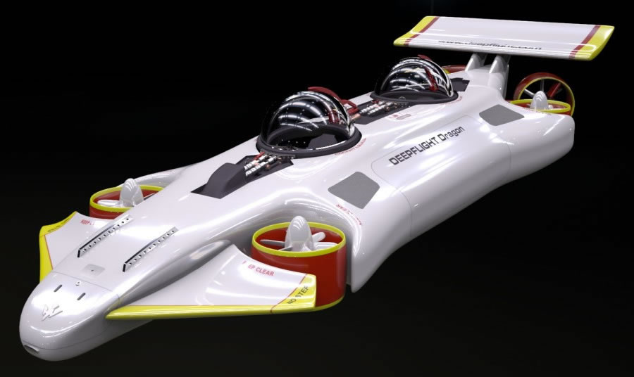 Have $1.5 million to spare? You can get the DeepFlight Dragon, the world's most compact personal submarine : Luxurylaunches