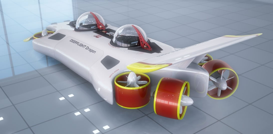 DeepFlight Dragon personal submarine 2