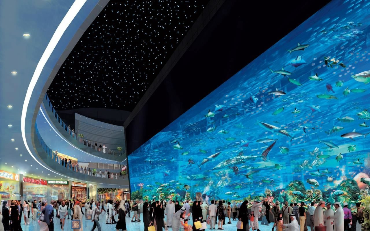 The 7 largest shopping malls in the middle east for Pictures of the coolest things in the world