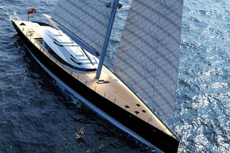 Ferrari and Alberto Franchi 50 meter luxury sailboat superyacht 1