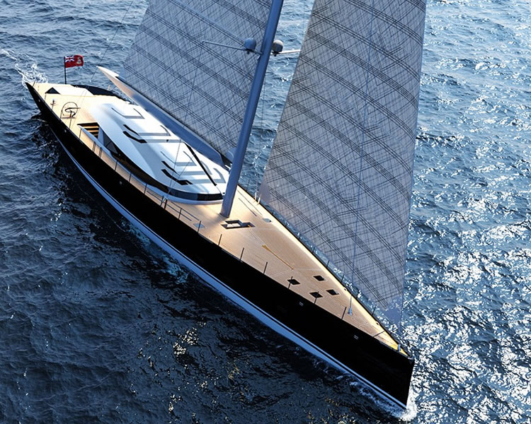Ferrari is designing a 50 meter luxury sailboat superyacht -