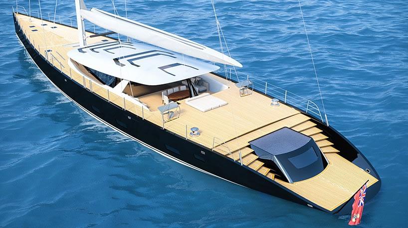 Ferrari and Alberto Franchi 50 meter luxury sailboat superyacht 3