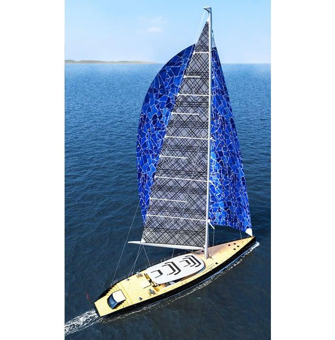 Ferrari and Alberto Franchi 50 meter luxury sailboat superyacht 5