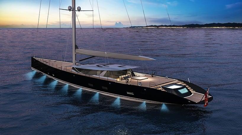 Ferrari and Alberto Franchi 50 meter luxury sailboat superyacht 6