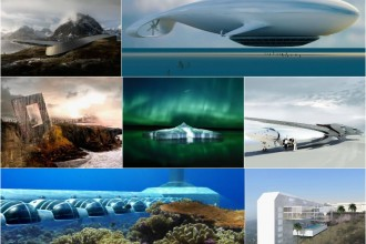 Flying hotels and underwater resorts