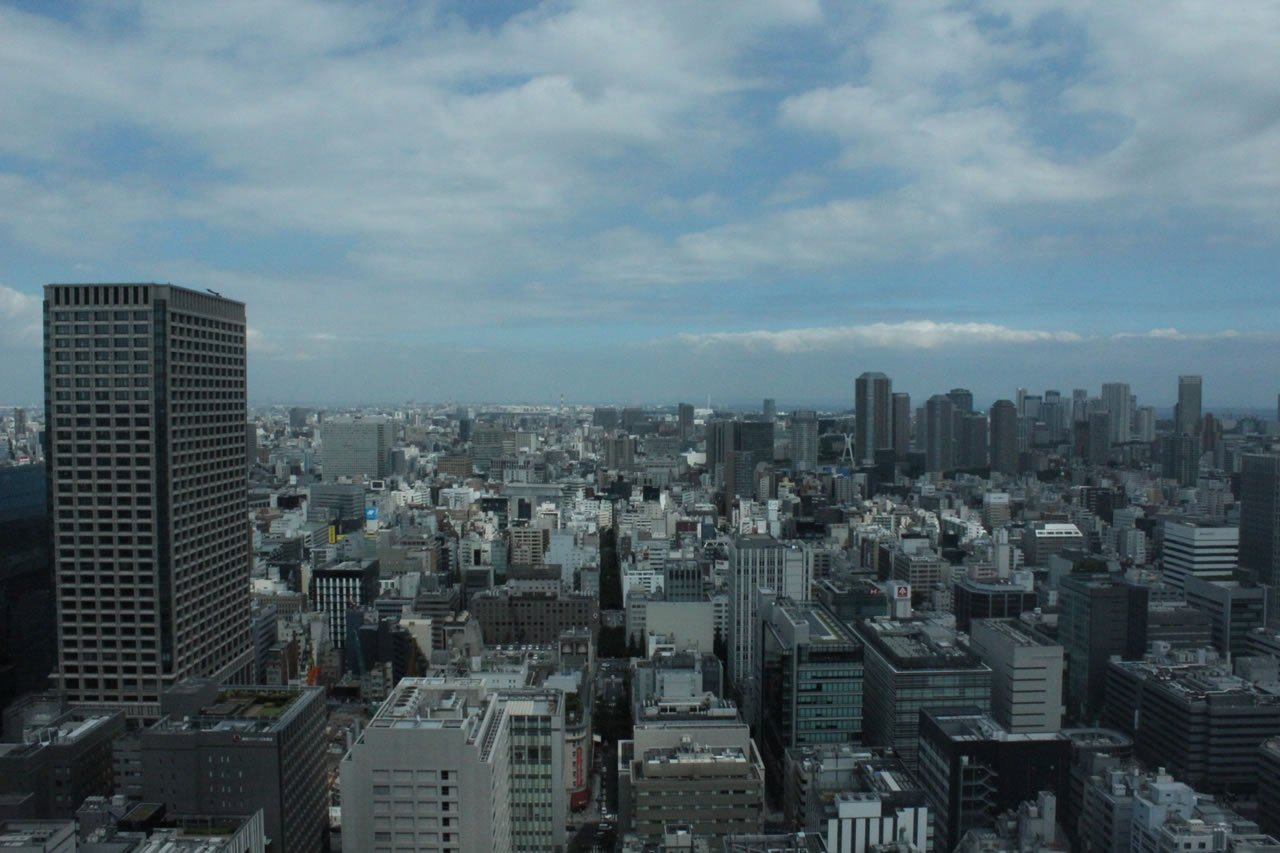 View from Shangri-La Tokyo's suite in the sky