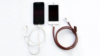 Handmade leather charging cables 3