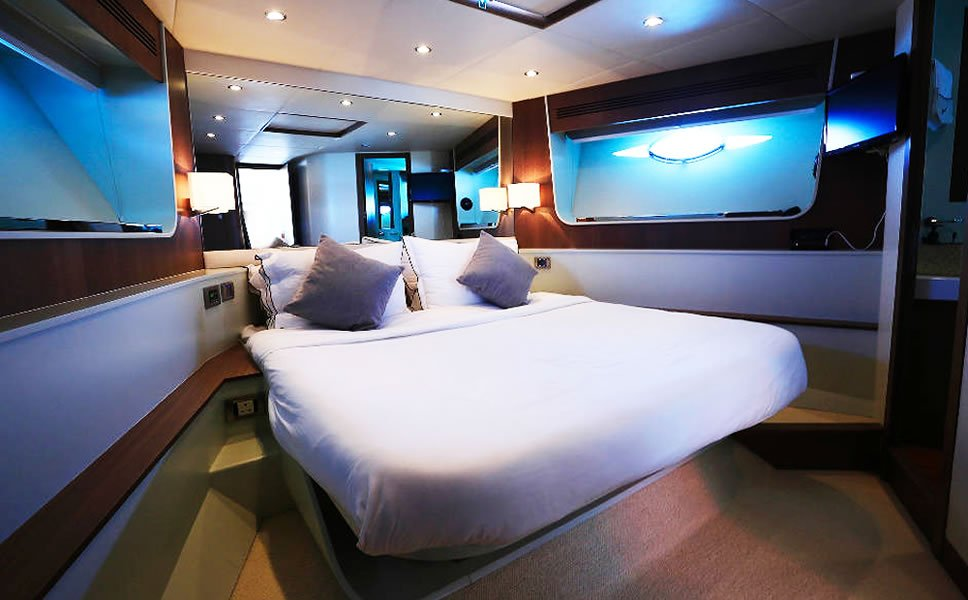 Hong Kong Airbnb luxury boat 2  The most expensive AirBnb rental in Hong  Kong A. Boat Bedroom