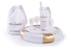 Moet and Chandon floating Champagne bar