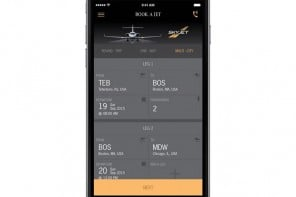 Skyjet iOS app to book private jet charters 1