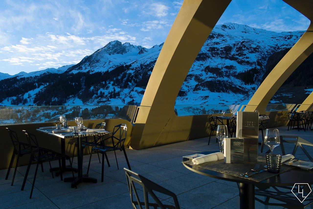 Studio Grigio restaurant at the Intercontinental Davos Terrace
