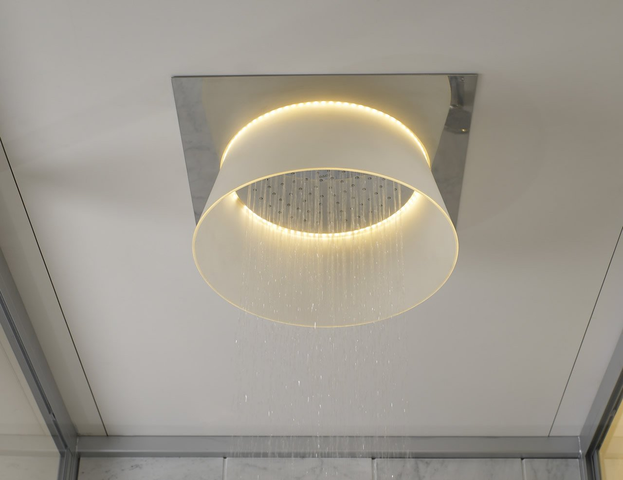 Shower ceiling lights downmodernhome light up your bathroom with s led ceiling mounted shower mozeypictures Choice Image