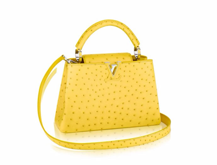 ageless Louis Vuitton Capucines in canary yellow 1
