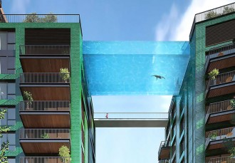 glass sky pool London residential area 1