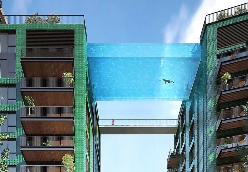 London To Get The Worlds First Glass Bottomed Suspended Swimming Pool