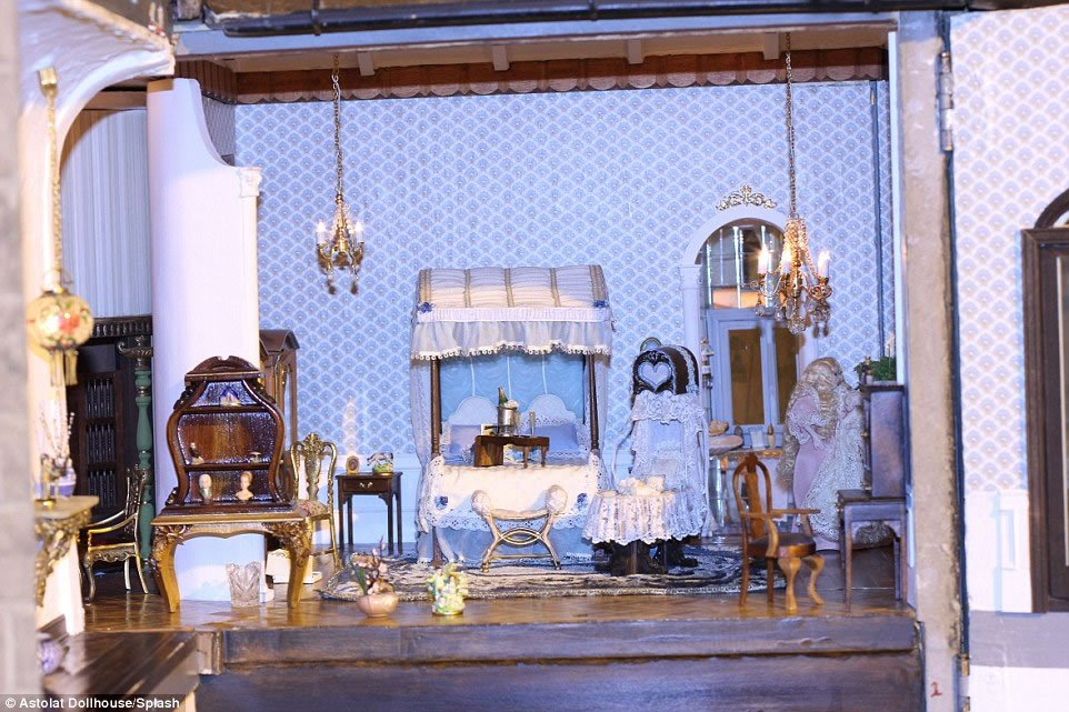 handcrafted interior pieces and 29 rooms the priciest doll house 11