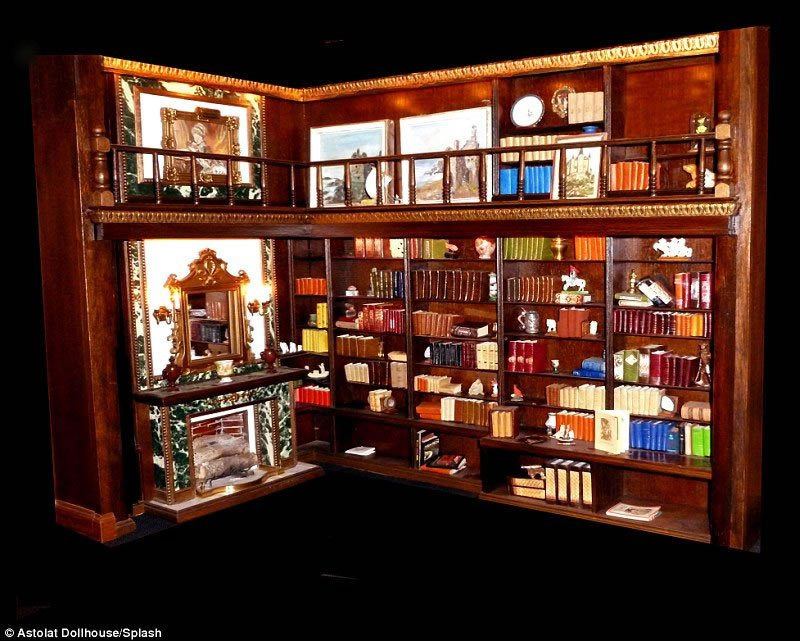 handcrafted interior pieces and 29 rooms the priciest doll house 14