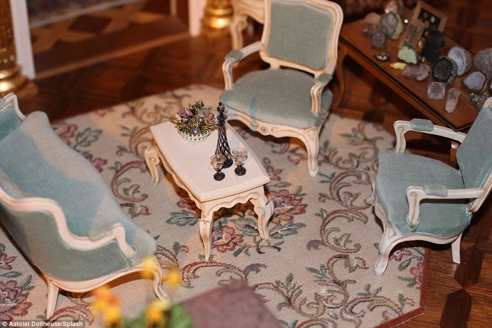 handcrafted interior pieces and 29 rooms the priciest doll house 7
