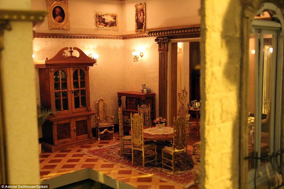handcrafted interior pieces and 29 rooms the priciest doll house 9