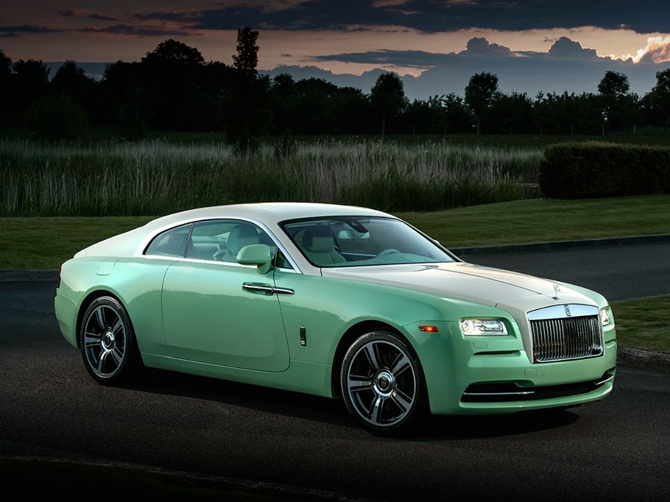 Rolls Royce Wraith Jade Pearl Commissioned Exclusive For Michael