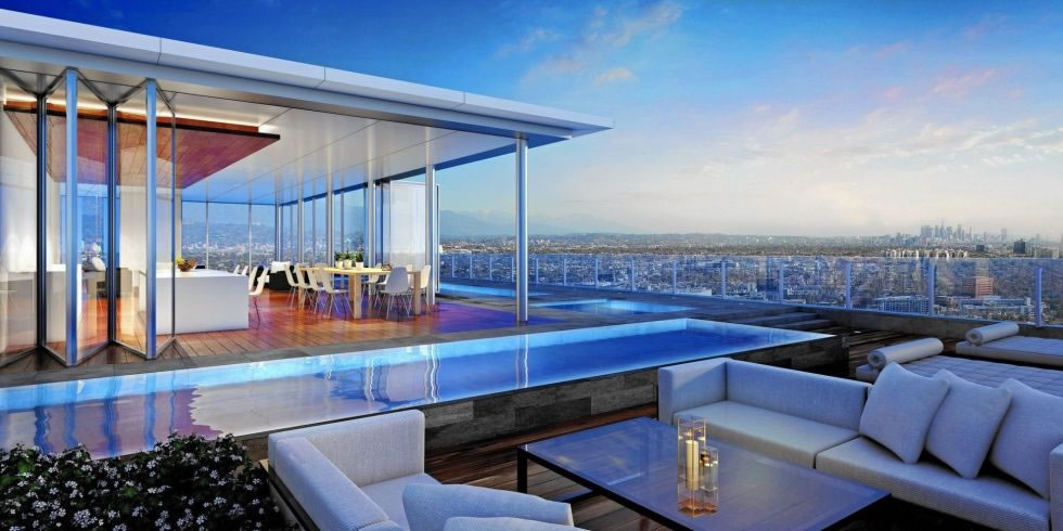 With Iphone Controlled Elevators L A S Paparazzi Free Penthouse Is Listed For A Whopping 50