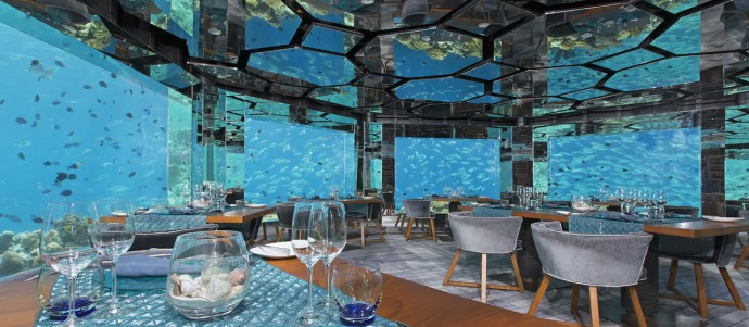 57 Sea underwater  restaurant panorama