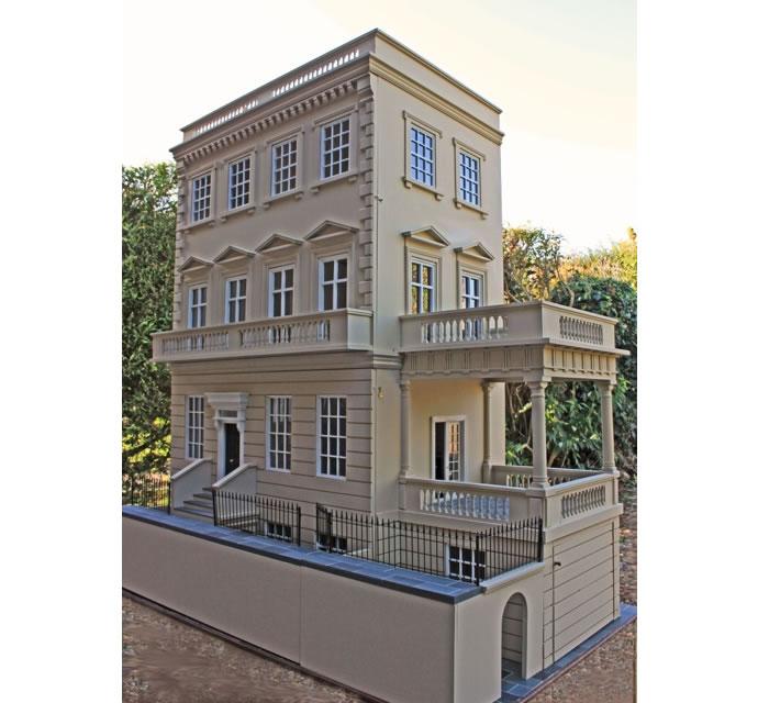 Anglia Dolls Houses, Kensington House with side portico