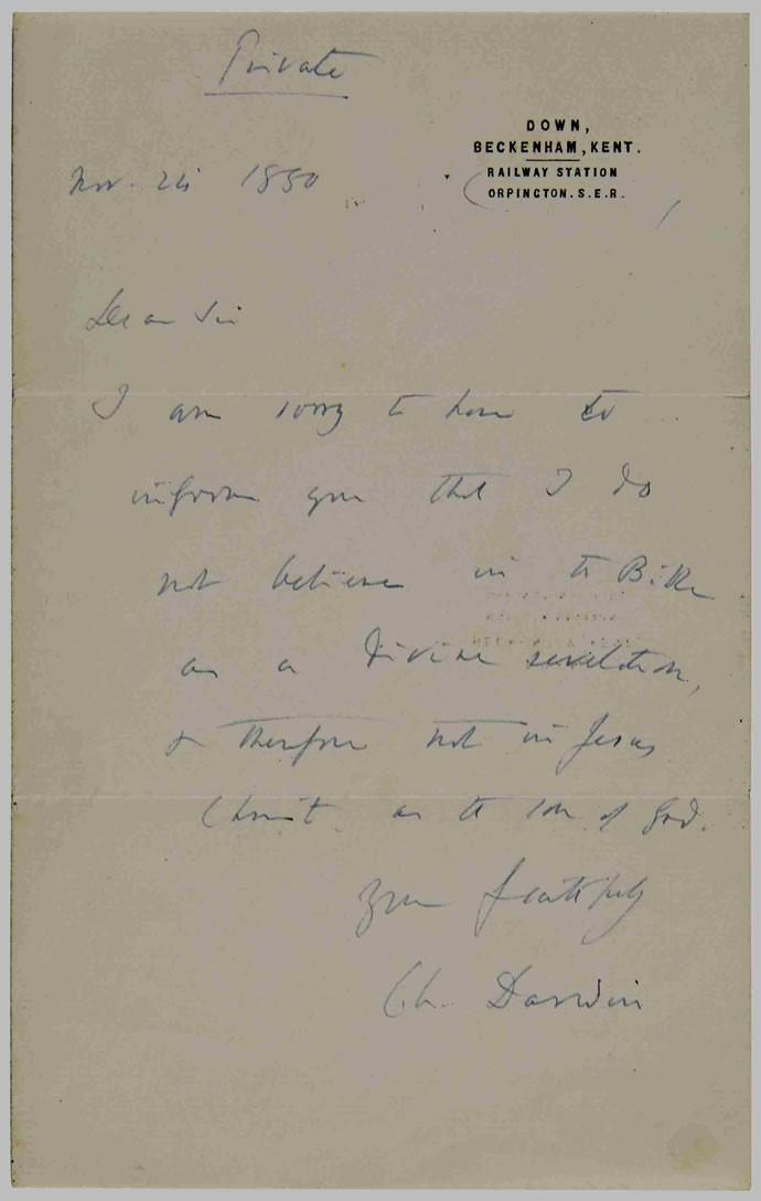 Darwin letter image 2