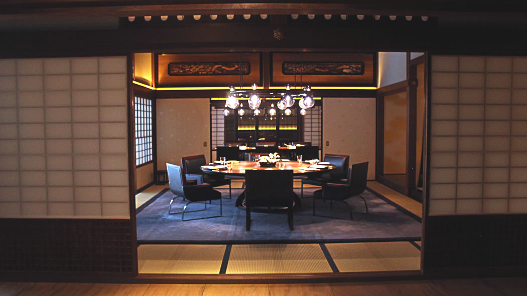 100 year-old dining room, at La Locanda