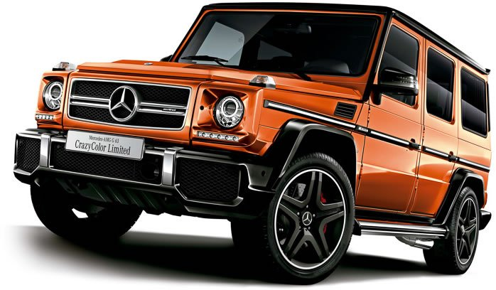 the crazy color edition mercedes benz g63 amg for japan are brawny yet cheerful. Black Bedroom Furniture Sets. Home Design Ideas