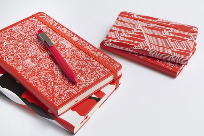 Moleskine Coca-Cola Bottle and notebooks-2