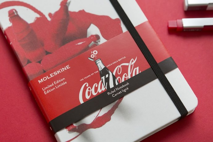 Moleskine Coca-Cola Bottle and notebooks-3