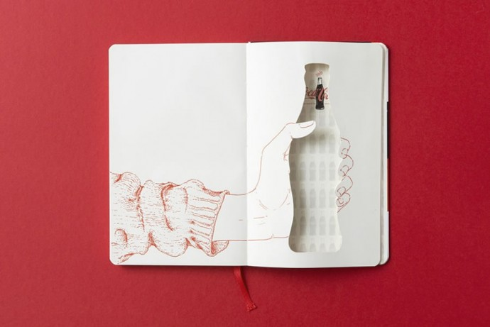 Moleskine Coca-Cola Bottle and notebooks-4