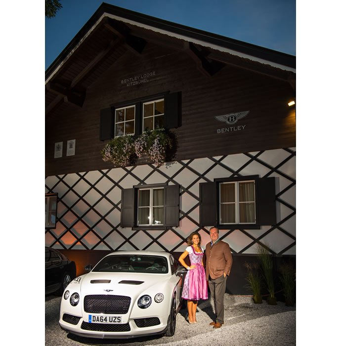 Sandra Zanetti and Robert Engstler at Bentley Lodge Kitzbuhel