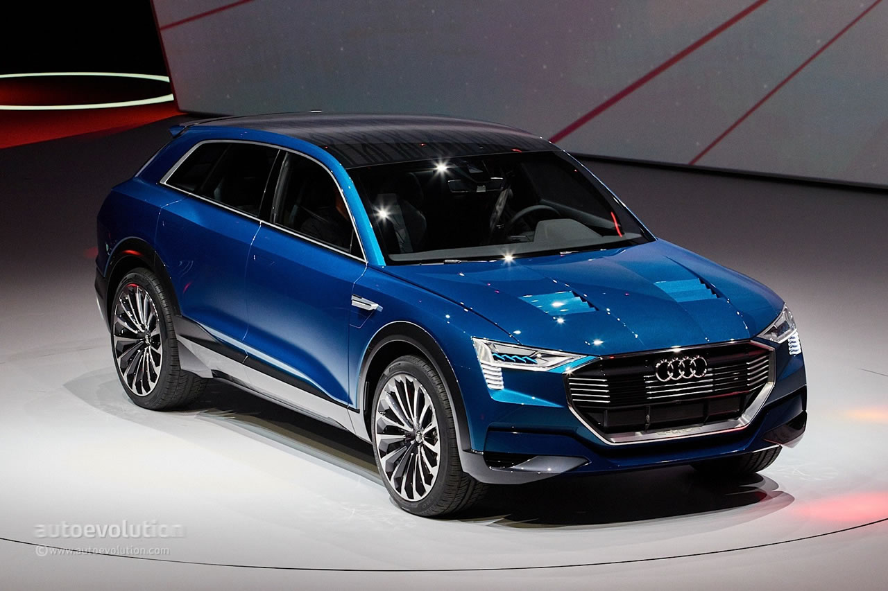 audi unveils e tron quattro concept an all electric suv with 310 mile range. Black Bedroom Furniture Sets. Home Design Ideas