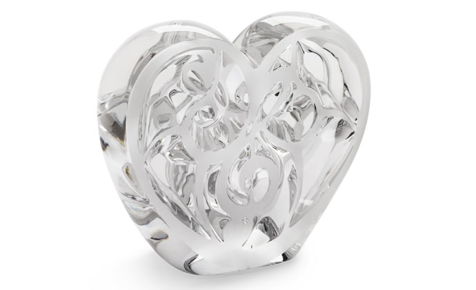 Heart, limited edition of 999 pieces, clear crystal