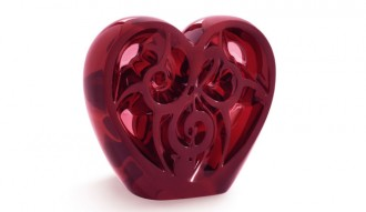 Heart, limited edition of 499 pieces, red crystal