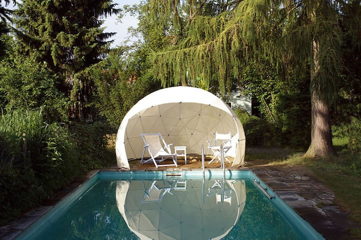 a transparent garden igloo your personal sanctuary for zen. Black Bedroom Furniture Sets. Home Design Ideas