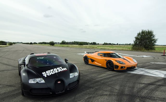 Christian von Koenigsegg races in a Bugatti Veyron against ...