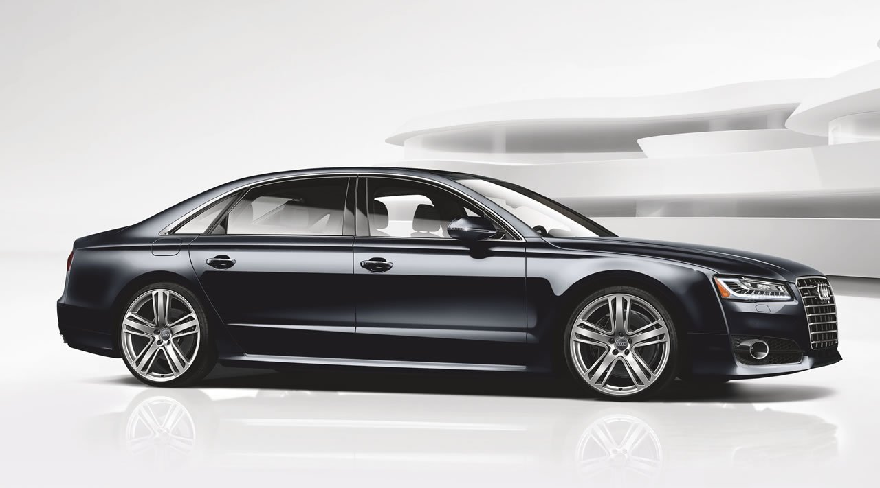 2016 audi a8 l 4 0t sport blurs the line between the s8. Black Bedroom Furniture Sets. Home Design Ideas