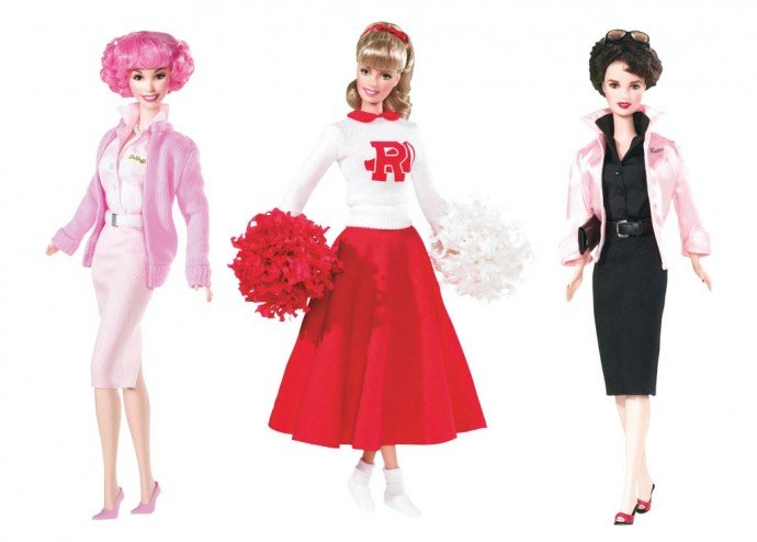 "Barbie celebrates the Pink Ladies from ""Grease"" in 2004 and 2008"