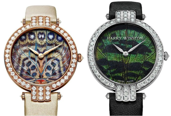 Harry Winston watch collage