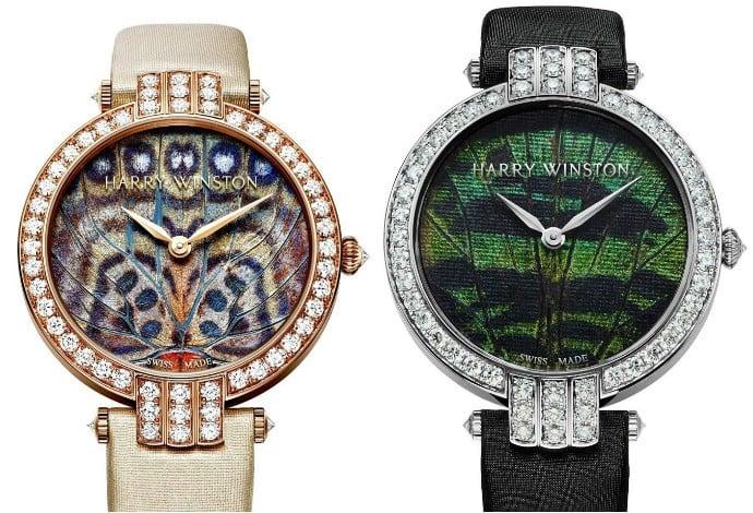 Harry Winston watch collage
