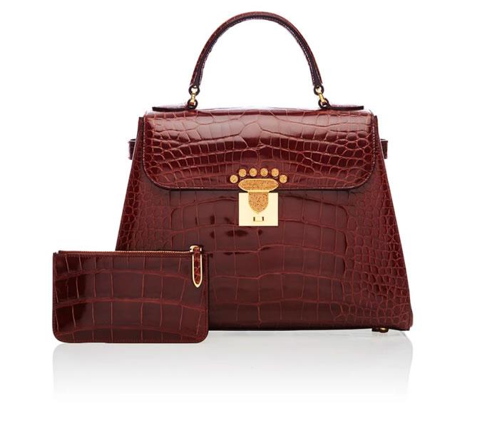 Diamonds Gold And Crocodile Skin 167 Handbag From Asprey S Private Collection