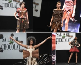 chocolate dress collage