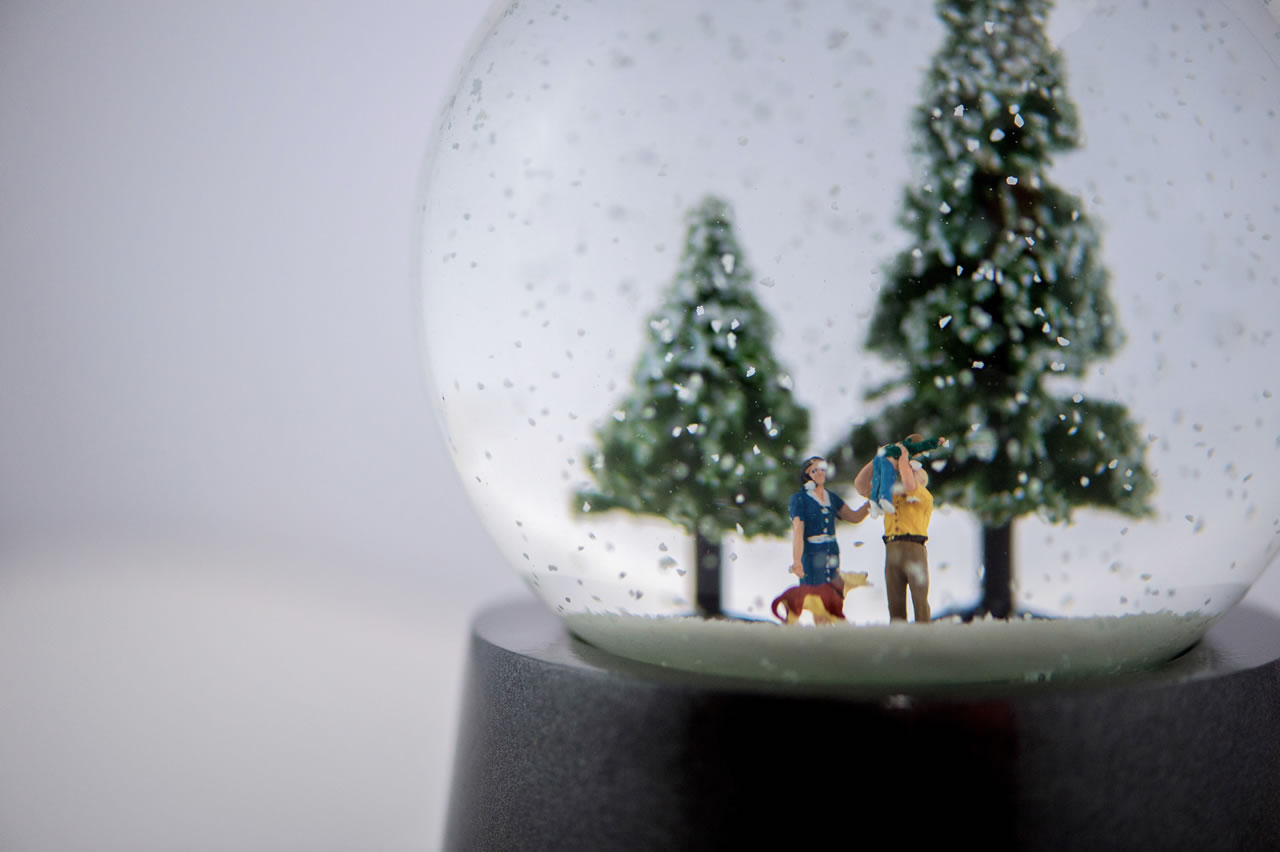 Fancy A 5000 Christmas Globe With Diamond Snow And Your