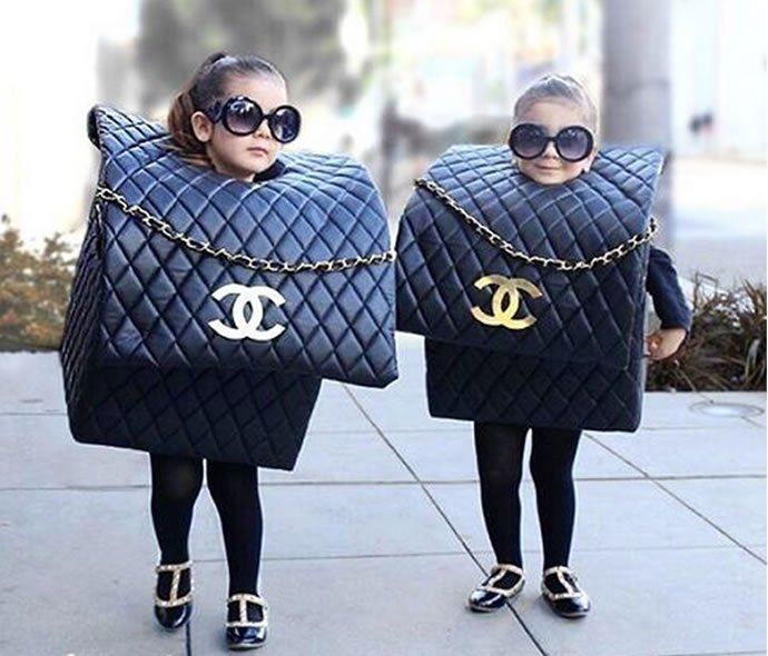 Adorable twins dressed as Chanel bags for Halloween and more : Luxurylaunches