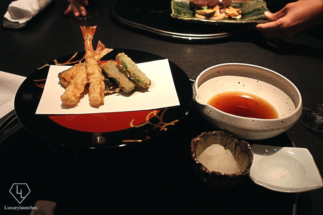 Custom tempura platter at Nadaman